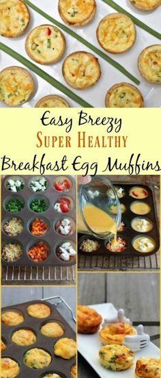 Easy Breezy Super Healthy Breakfast Egg Muffins #breakfast #healthybreakfast #kids #superhealthykids #easyrecipes
