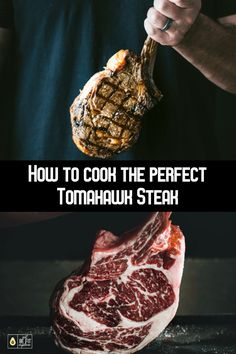 Tomahawk Steaks can be intimidating to cook. They aren't the cheapest piece of meat so you want to make sure you get it right. In this post I take you step-by-step on how to cook the perfect tomahawk steak by using the reverse sear method. Keto Friendly Desserts, Low Carb Desserts, Low Carb Recipes, Diet Desserts, Raw Recipes, Grilled Steak Recipes, Grilling Recipes, Grilled Meat, Grilled Steaks