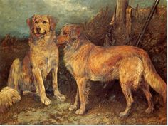 John Emms - Golden Retrievers by John Emms | 1844-1912