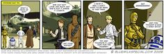 Hundreds of funny Star Wars cartoon strips to read.  I stumbled upon Blue Milk Special today, a brilliant collection of hundreds of Star Wars cartoon strips that parody not only the movies but also EU books too.