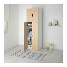 STUVA Opberger met deuren - wit/berken - IKEA