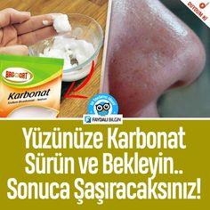 Yüzünüze Karbonat Sürün ve Bekleyin. Health Care Reform, Homemade Skin Care, Skin Problems, Diet And Nutrition, Face Skin, Face Care, Healthy Skin, Routine, Beauty Hacks