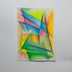 Dynamic 1 watercolor on paper 13x18 cm Futurism collection