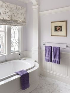 lilac bathroom. Well done purple bath  very subtle Houzz com Lilac grey bathroom Floor painting Lilacs and Pearls