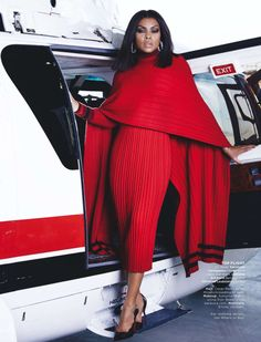 Taraji P. Henson in Salvatore Ferragamo photographed by Dennis Leupold for Essence magazine, November Fashion Week, High Fashion, Womens Fashion, Style Fashion, Essence Magazine, Look Chic, Beautiful Black Women, Dress To Impress, Lady In Red