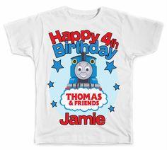 Personalized Thomas The Train Birthday T-Shirt #PopularBrands #BirthdayGiftEverydayHoliday