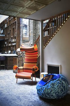 Private members' club LIBRARY is a compendium of creativity in London's West End. Exterior Design, Interior And Exterior, Library Cafe, Library Inspiration, Floor Seating, Private Club, Bakery Design, Restaurant Interior Design, Retail Design