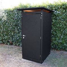 toilette s che ext rieure en bois osb brut toit plat vente en kit complet avec abattant. Black Bedroom Furniture Sets. Home Design Ideas