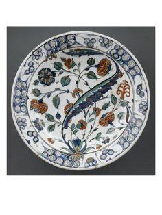 Plat à la grande feuille sâz sinueuse  - Musée national de la Renaissance (Ecouen)