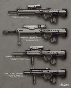 concept sci fi rifles | Adapted Rifle Variants by Shimmering-Sword on deviantART