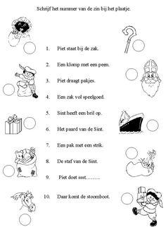 Werkblad: Schrijf het nummer van de zin bij het plaatje (taal)