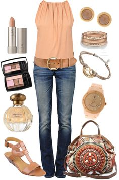So stinking cute all but those sandals & perfume but love everything else.