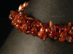 Orissa Garnet Bracelet  Chainmaille  by GiraffeJewelleryBox