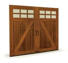 1000 images about log cabin love on pinterest carriage for Composite garage doors that look like wood