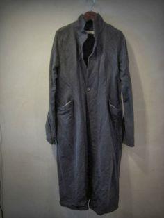 Darkest grey | Long chore work coat jacket | 04/03/14 - E.S.S