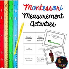 Measurement activities math material montessori inspired self correcting great for public school montessori