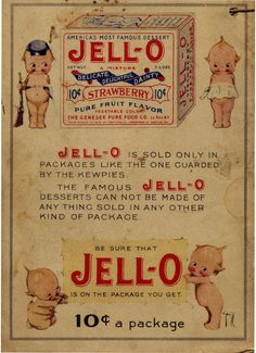 """""""Famous Jell-O desserts cannot be made by anything sold in any other package"""" ... love it!"""