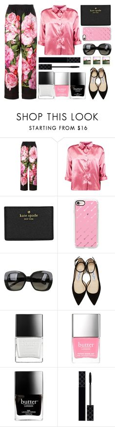 """""""Roses are red..."""" by juliehalloran ❤ liked on Polyvore featuring Dolce&Gabbana, Boohoo, Kate Spade, Casetify, Bottega Veneta, Jimmy Choo, Polaroid, Butter London and Gucci"""