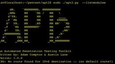 APT2 v1.0 – An Automated Penetration Testing Toolkit.
