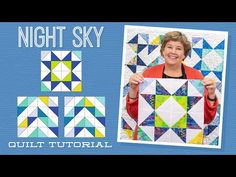 Night Sky Quilt Pattern by Missouri Star - Missouri Star Quilt Co. - Missouri Star Quilt Co. - Finished size: x pattern for squares. From Missouri Star Quilt Company Missouri Star Quilt Tutorials, Quilting Tutorials, Quilting Projects, Quilting Designs, Msqc Tutorials, Quilting Tips, Missouri Star Quilt Pattern, Triangle Quilt Tutorials, Half Square Triangle Quilts Pattern