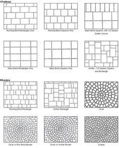 paver pattern calculator plus a ton of different layouts