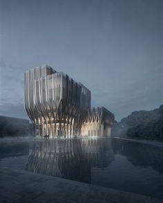 Zaha Hadid diseña cinco torres de madera para albergar el Instituto de Genocidio Camboyano