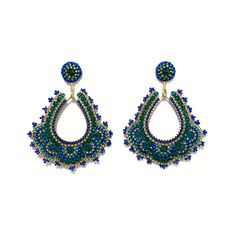 in den Farbtönen Gold, Königsblau und Türkis Crochet Earrings, Gold, Accessories, Jewelry, Fashion, Moda, Jewlery, Jewerly, Fashion Styles