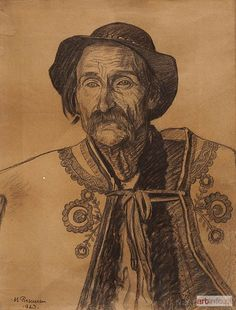 Selection of portraits by Polish artist Michał Maksymilian Rekucki Folk Costume, Costumes, Baba Yaga, Hungary, Art Inspo, Poland, The Selection, Portraits, Sculpture