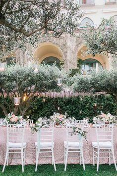 Romantic garden wedding off the Amalfi coast - 100 Layer Cake Wedding Dinner, Italy Wedding, Garden Wedding, Dream Wedding, Wedding Bride, Luxury Wedding, Wedding Bells, Garden Party Decorations, Wedding Decorations