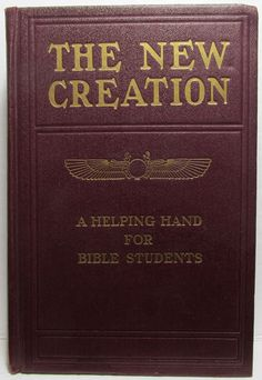 STUDIES in the SCRIPTURES (Series VI The New Creation) Jehovah's Witnesses 1911 International Bible, Religious Books, Rose City, Ink Stamps, Jehovah's Witnesses, Helping Hands, Scriptures, Study, Studio