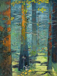 oil on canvas Abstract Tree Painting, Forest Painting, Abstract Oil, Abstract Trees, Landscape Art, Landscape Paintings, Tree Paintings, Landscapes, Rick Stevens