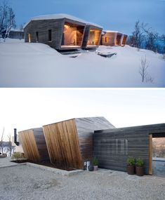 The layout of this modern house was conceived as several individual volumes connected via in-between spaces and a central winter garden. garden architecture design This House In Norway Was Designed With Many Opportunities For Views Of The Surrounding Area Architecture Design, Garden Architecture, Residential Architecture, Roman Architecture, Design Moderne, Winter Garden, Winter House, Modern House Design, Cabana