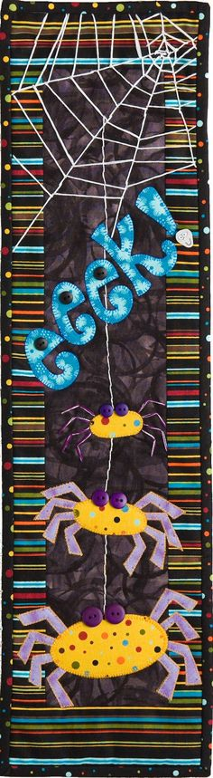 Eeek spider themed wall hanging quilt kit for by PatchAbilitiesToo, $25.30