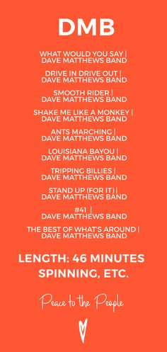 Dave Matthews Band Playlist — Peace to the People