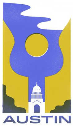 Austin, Texas - Travel Poster Series - The Heads of State