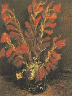 Van Gogh - Vase mit roten Gladiolen, 1886
