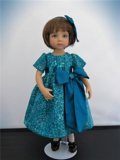 """""""Turquoise Delight""""  for 13"""" Effner Little Darling by Auntie Pat's Doll Closet #DiannaEffner"""