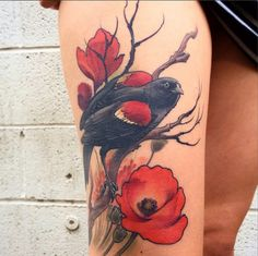 Red-Winged Blackbird, Corey Bernhardt, Reclamare Tattoo and Gallery, Sacramento CA - Imgur
