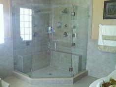 Framless Corner Glass Shower Enclosure