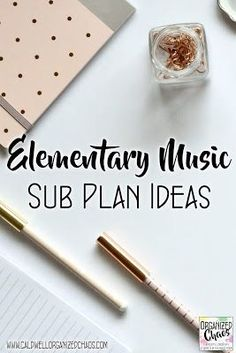 Elementary Music Sub Plan Ideas   Organized Chaos. Great ideas that work for a wide range of ages, perfect for emergency sub tub for elementary general music teachers.