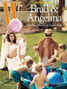 Brad Pitt et Angelina Jolie en couverture de W 27