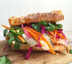 Grilled Chicken Banh-Mi with Pickled Vegetables and Sriracha MayoDelish
