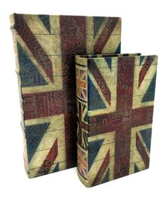 Love this Union Jack Book Box Set by KingMax Product on #zulily! #zulilyfinds