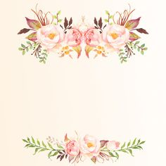 Hasil gambar untuk watercolor logos sweet home Flower Backgrounds, Wallpaper Backgrounds, Iphone Wallpaper, Wallpapers, Watercolor Logo, Watercolor Flowers, Flower Frame, Flower Art, Invitation Cards