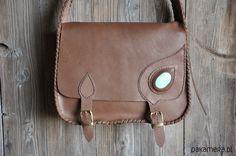 torby XXL - damskie-Teczka z turkusowym oczkiem