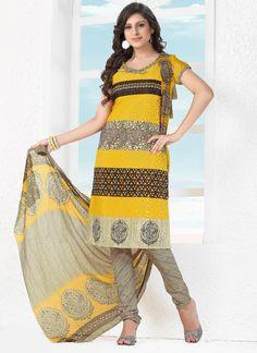 305356695 Refreshing Yellow Crepe Jacquard Printed Indian Designer Salwar Suit At Best  Price By Uttamvastra - Online Shopping For Women