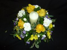 Michelle - imagine this without the candle for the table centre posy - and in your colours of course!!