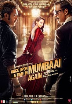 Once Upon a Time In Mumbai AGAIN! - Picks up where the previous film ended.  After assassinating Sultan Mirza (Ajay Devgn), Shoaib Khan (Akshay Kumar) is now the reigning crime boss.  Only two enemies stand between him and his goal of supremacy, Vardha and Arun, who team up with Sreenu, a police officer.  Together the trio fully intend to ruining Shoaib Khan.