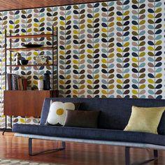 Papel de parede Orla Kiely #pattern #retro #estampas #wallpapper #vintage #70´s