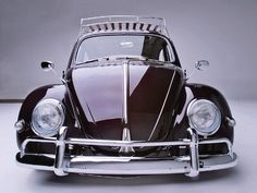 1959 VW Beetle front view.